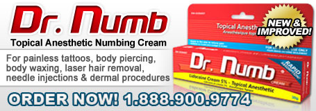 Buy Dr. Numb - The STRONGEST Numbing Cream for Tattoo Pain, Needles, Laser and Wax Treatments!