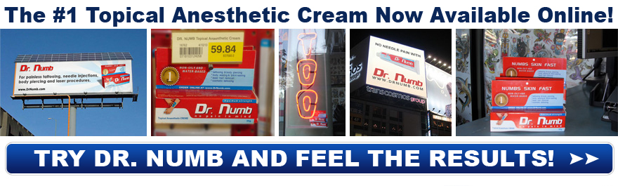 Dr. Numb topical anesthetic numbing cream for body / bikini waxing now available online! CLICK HERE TO BUY NOW!